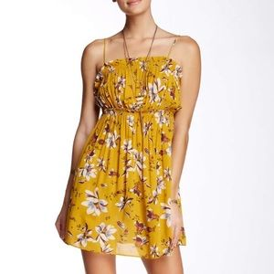 Free People Jolene Floral Slip Dress Yellow NWT
